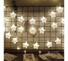 """Led гирлянда """"Белые звездочки"""" 20 ламп 3 м - usb"""