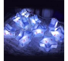 "Led гирлянда ""Голубые звездочки"" 20 ламп 3 м - USB"