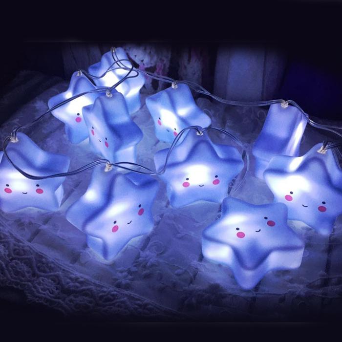 "Led гирлянда ""Голубые звездочки"" 20 ламп 3 м"