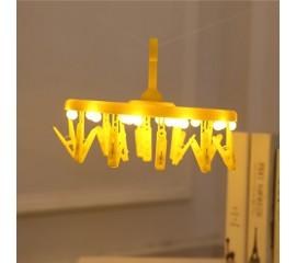 Вешалка с подсветкой желтая