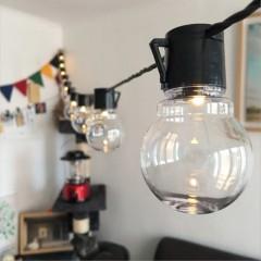 """Гірлянда """"Лампочки прозорі"""" 38 ламп 10 м 8 режимів світіння"""