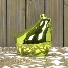 Фигурка курочка глянцевая салатовая