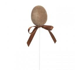 Яйцо велюровое коричневое
