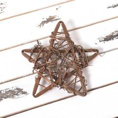 Звезда из лозы 10 см