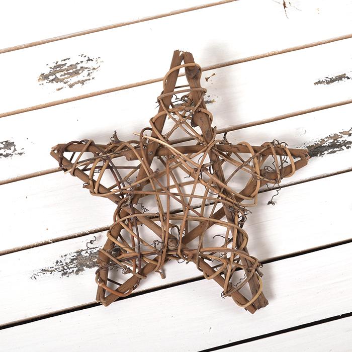 Звезда из лозы 15 см