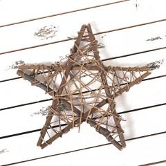 Звезда из лозы 20 см