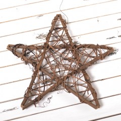 Звезда из лозы 30 см