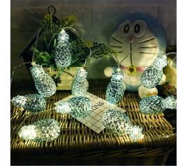 "Led гирлянда ""Ананас голубой"" 10 ламп 1,5 теплый-белый"