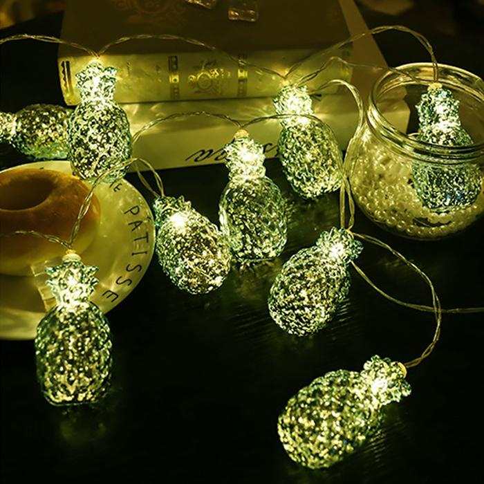 """Led гирлянда """"Ананас зеленый"""" 10 ламп 1,5 теплый-белый"""