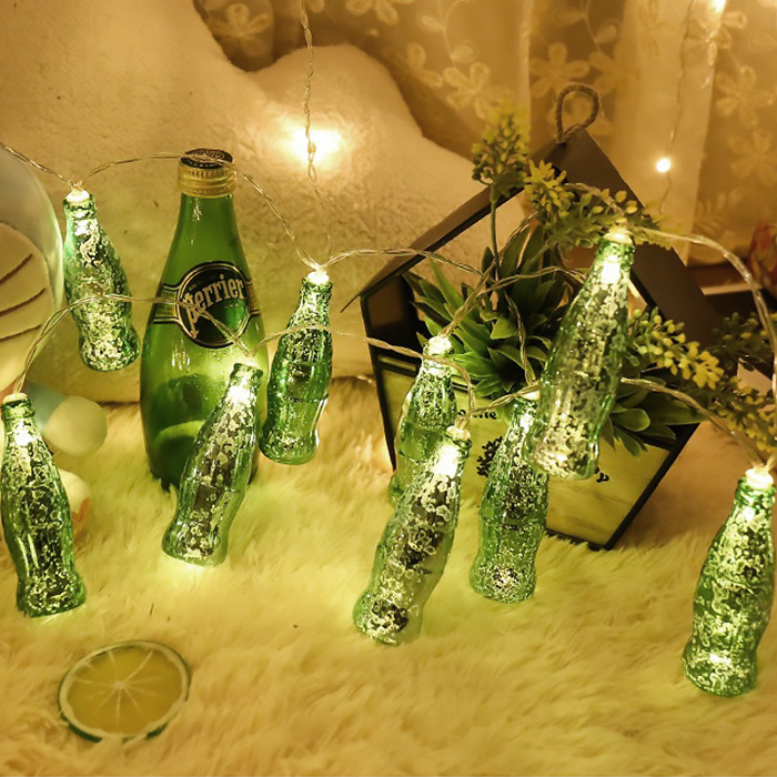 """Led гирлянда """"Бутылочки"""" зеленые 10 ламп 1,5 м"""