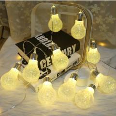"""Led гирлянда """"Лампа с бисером"""" золото 10 ламп 1,5 м"""