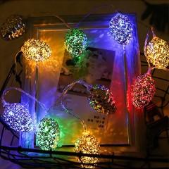 """Led гирлянда """"Серебряные шишки"""", 10 ламп, 1,5 м, цветная"""