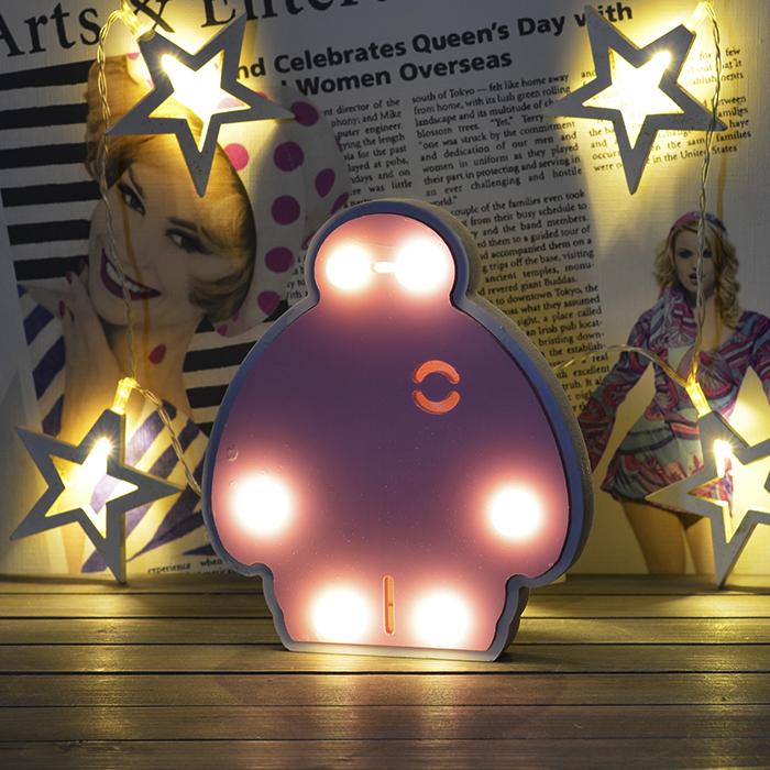 LED фигурка человечек розовый