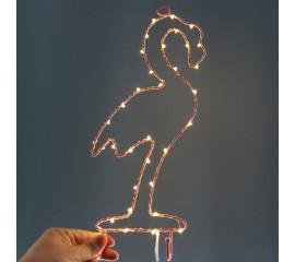 Настенный декор led фламинго