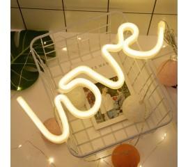 "Настенный LED декор ""Неоновая надпись LOVE"""
