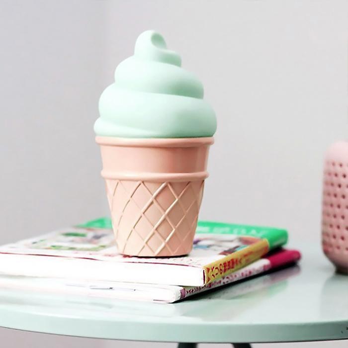 LED светильник мороженое зеленое