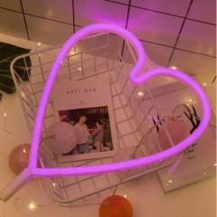 """Настенный LED декор """"Неоновое сердце"""", батарейки / USB"""