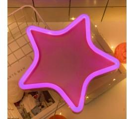 """Настенный LED декор """"Неоновая звезда"""""""
