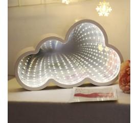 """Зеркальный 3D ночник """"Облако"""" с магическим туннельным светом"""