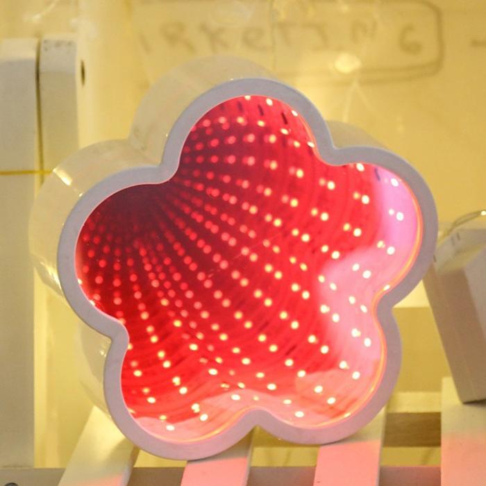 """Зеркальный 3D ночник """"Цветок"""" с магическим туннельным светом"""