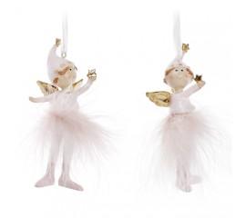 """Подвеска """"Девочка ангел в розовой юбке"""" 10 см"""