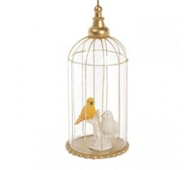 """Елочное украшение """"Птички в клетке"""""""