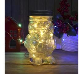 """Банка с подсветкой """"Санта"""" 20 led"""