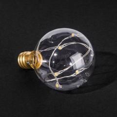 Лампа G40 з LED нитками, теплий-білий