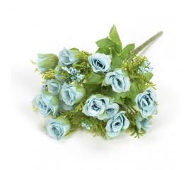 Букетик мини розочки с добавкой - голубые