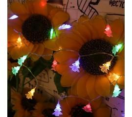 "LED гирлянда ""Елочки"" 20 ламп, 3 м, цветная, на батарейках"