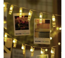 "LED гирлянда ""прищепки"" - теплый белый 10 ламп 1,5 м"