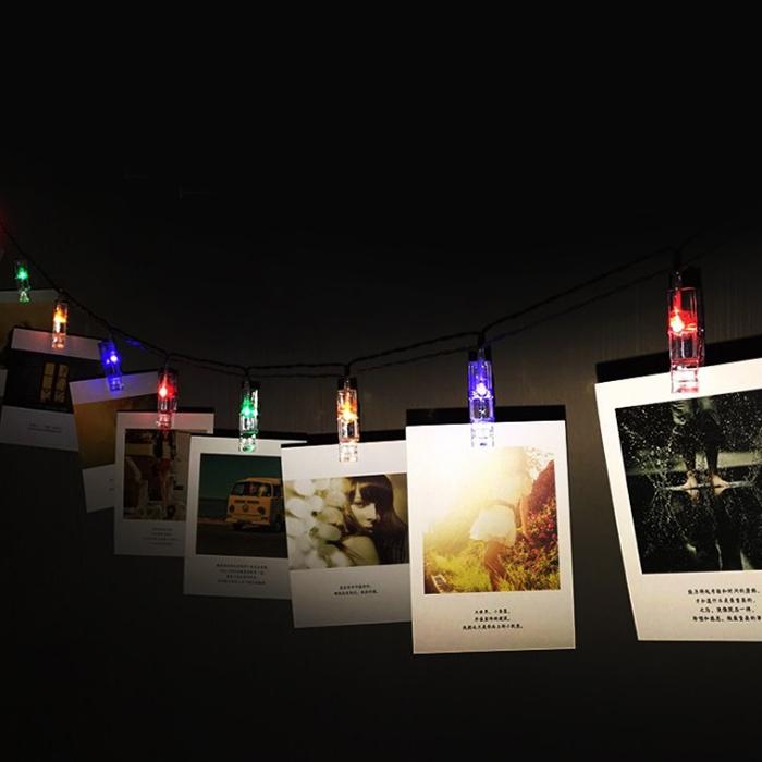 """LED гирлянда """"Прищепки"""" - цветная, 20 ламп 3 м."""