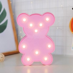 """Светодиодный ночник """"Мишка"""" - розовый"""