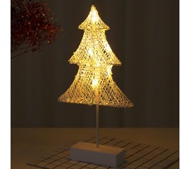 LED елка-ротанг на подставке 40см