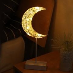 LED луна-ротанг на подставке 40см