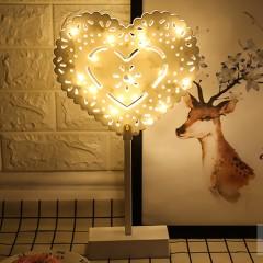 LED серце ажурне на підставці 40см