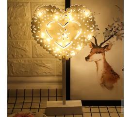 LED сердце ажурное на подставке 40см
