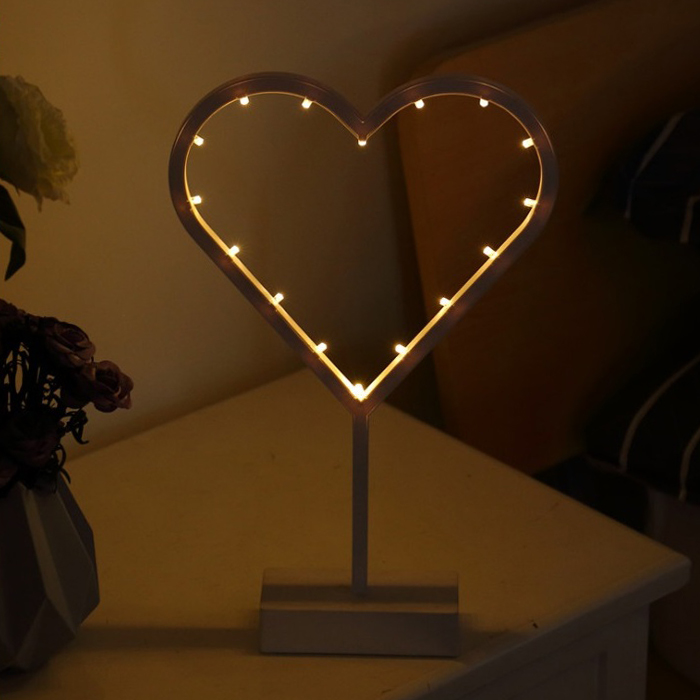 LED сердце на подставке
