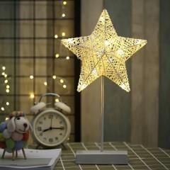 LED зірка-ротанг на підставці 40см