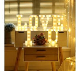 """Светодиодный декор """"I LOVE U"""""""