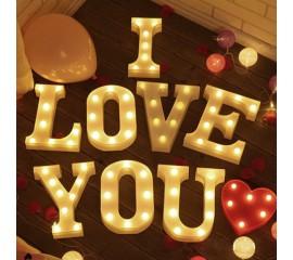 """Светодиодный декор """"I LOVE YOU"""""""