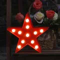 """Светодиодный ночник """"Звезда"""" - красная 27 см"""