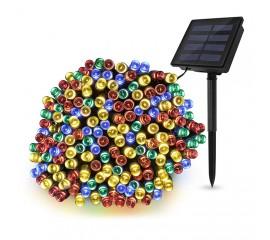 """Солнечная гирлянда """"стринг"""" 300 ламп 32 м цветная, 8 режимов"""