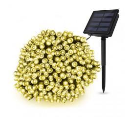 """Солнечная гирлянда """"стринг"""" 300 ламп 32 м теплый-белый, 8 режимов"""