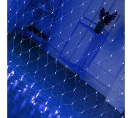 """Гирлянда """"Сетка"""" 1,5 х 1,5 м, 96 led, синяя"""