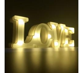 "Светодиодный ночник ""LOVE""- белый"