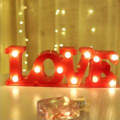 """Светодиодный ночник """"LOVE""""- красный"""