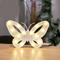"Светодиодный ночник ""бабочка"" - белая"