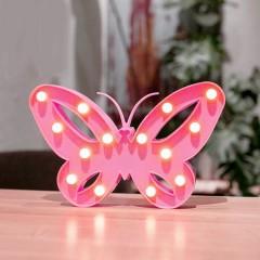 """Светодиодный ночник """"бабочка"""" - розовая"""