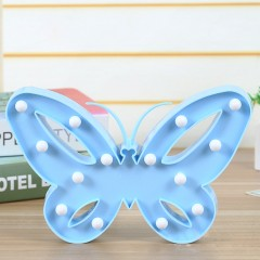 """Светодиодный ночник """"бабочка"""" - голубая"""